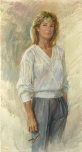 Chris Evert Oil Painting