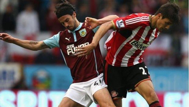 Jostle: Santiago Vergini Holds Off Burnley'S George Boyd