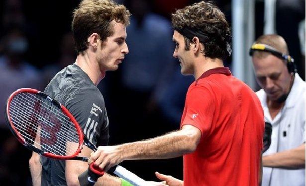 Roger Federer beats Andy Murray