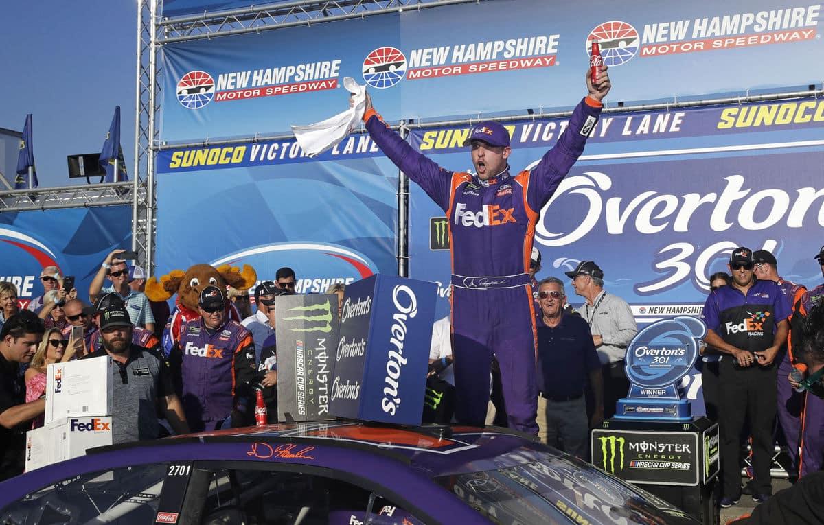 Denny Hamlin wins at New Hampshire