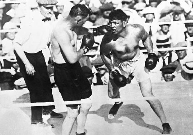 Jack Dempsey After Georges Carpentier Fight In 1921