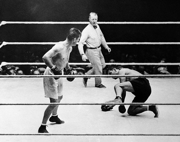 Jack Dempsey Goes Down