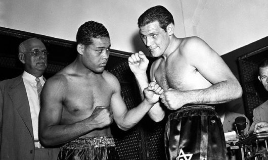 Joe Louis with Buddy Baer