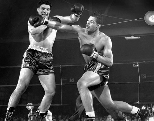 Coley Wallace defeats Rocky Marciano in this amateur fight.