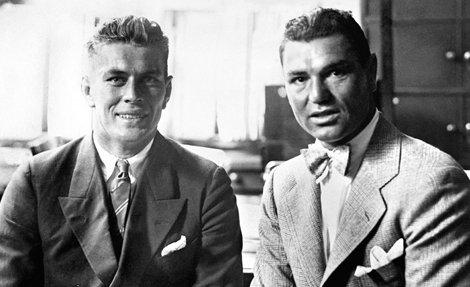 .Gene Tunney And Jack Dempsey