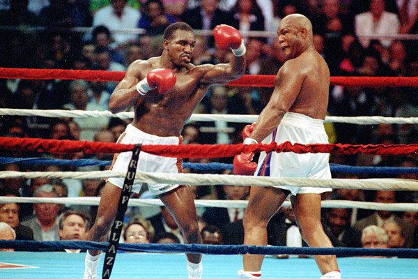 George Foreman lost to Evander Holyfield on points