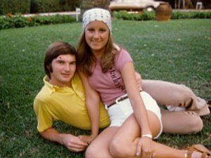 Chris Evert with Jimmy Connors
