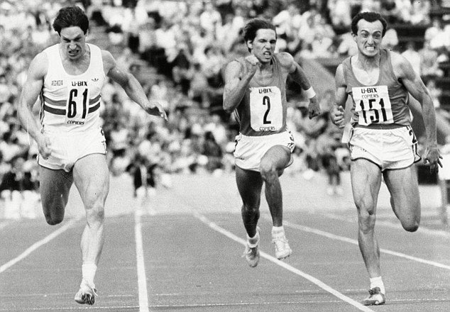 Allan Wells beating Pietro Mennea at Crystal Palace in 1983