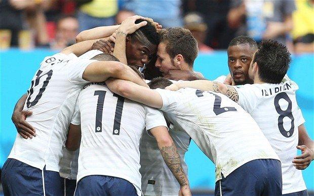 Pogba scoring for France