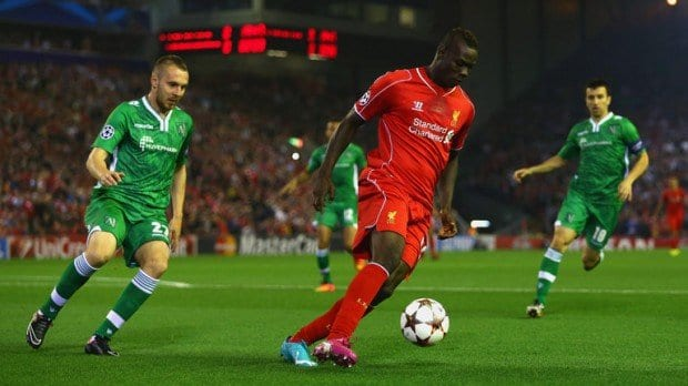 Balotelli's goal looked to have sunk a brave Ludogorets team