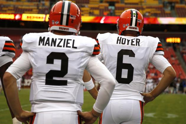 Brian Hoyer and rookie Johnny Manziel