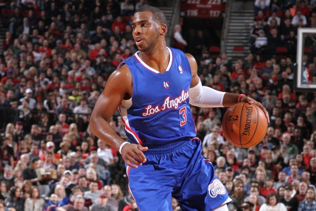 hi res  chris paul of the los angeles clippers looks to pass crop exact