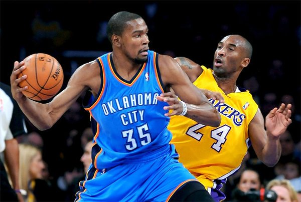 Kevin Durant and Kobe Bryant, happier days
