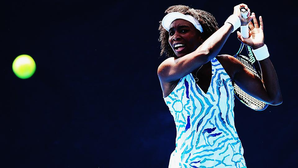 venus williams auckland lead