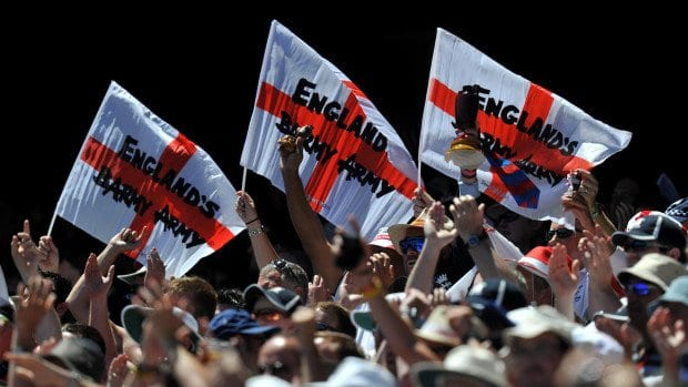 England fans in full voice
