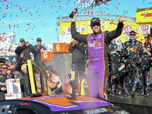 Denny Hamlin has made himself at home at Martinsville as he collected his fifth win at the track and 25th of his career.
