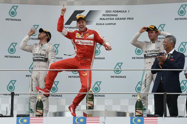 Sebastian Vettel wins the Malaysian GP