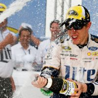 Brad Keselowski wins second race amid chaos