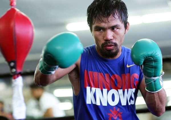 Pacquiao breaks camp  a e