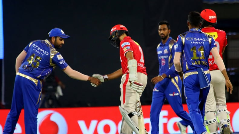 6 Rohit Sharma of Mumbai Indians greet Hashim Amla