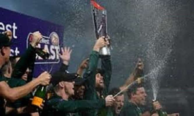 notts outlaws winning trophy