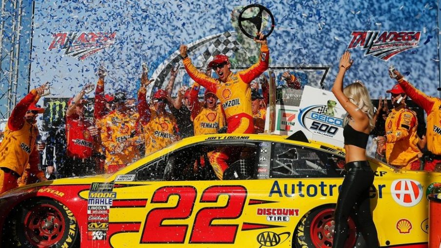 Joey Logano at Talledega