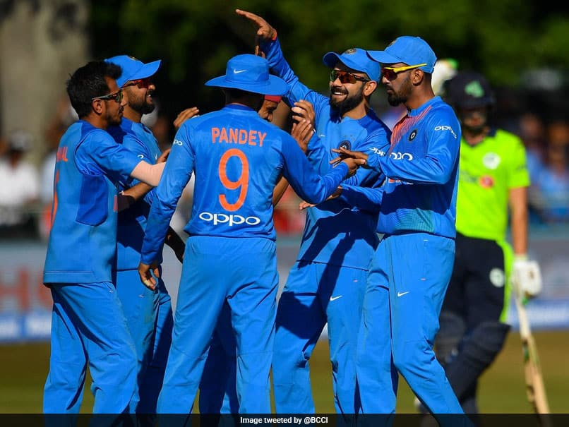 Team India celebrate their dominance over Ireland
