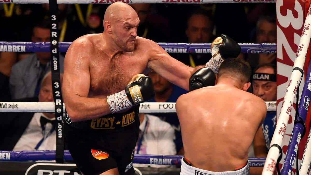 Tyson Fury defeats Sefer Seferi