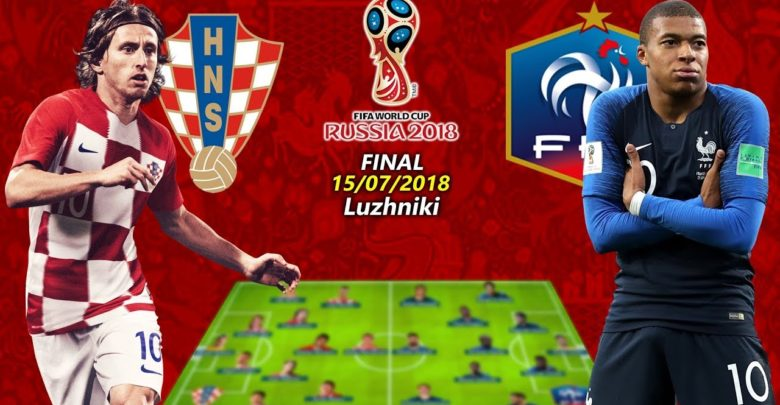 2018 Fifa World Cup Final France Vs Croatia Lineups Score