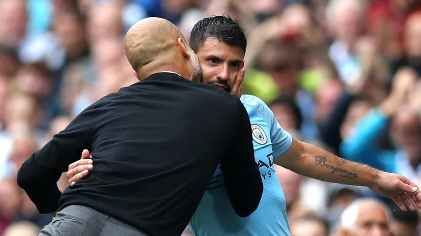 aguero and guardiola