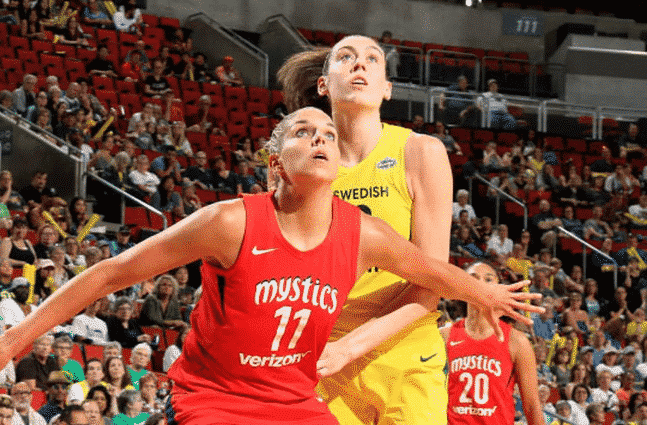 Elena Delle Donne has her eyes on Game 2.