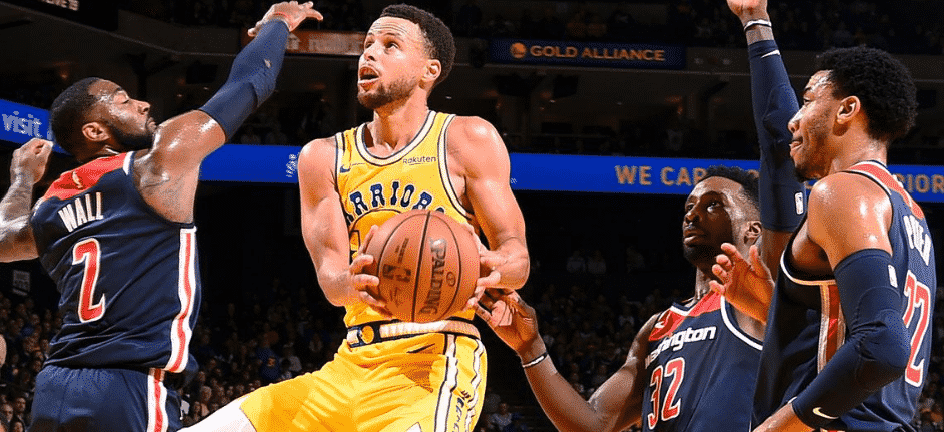 Stephen Curry goes off in Warriors rout over Wizards