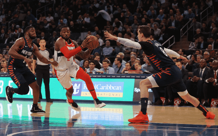 John Wall sank the dagger in Washington's road win on Monday