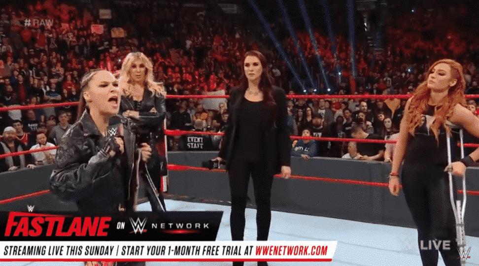 Ronda Rousey, Becky Lynch, Monday Night RAW, WWE