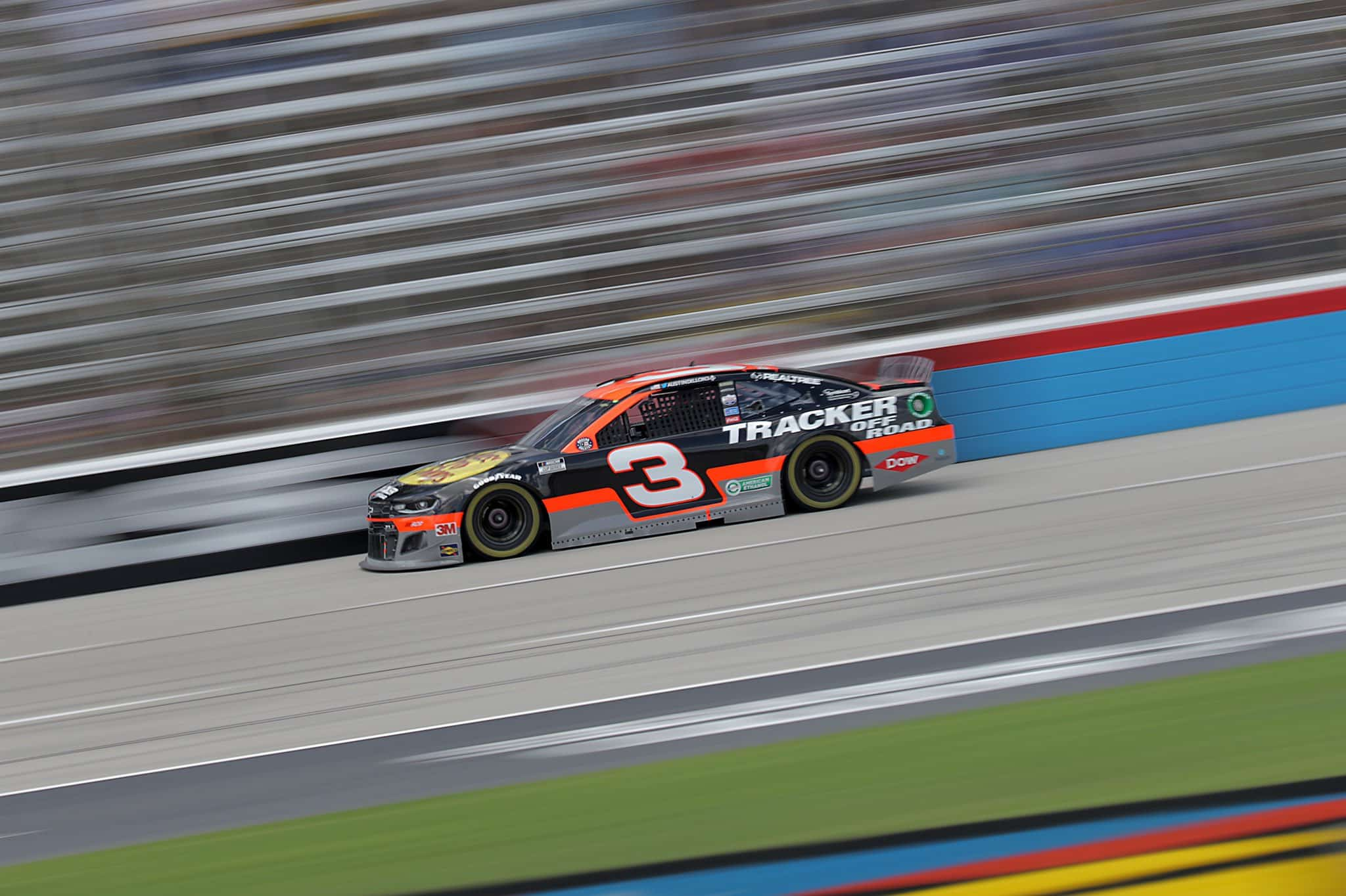 Austin Dillon on his way to his first win of 2020 at Texas