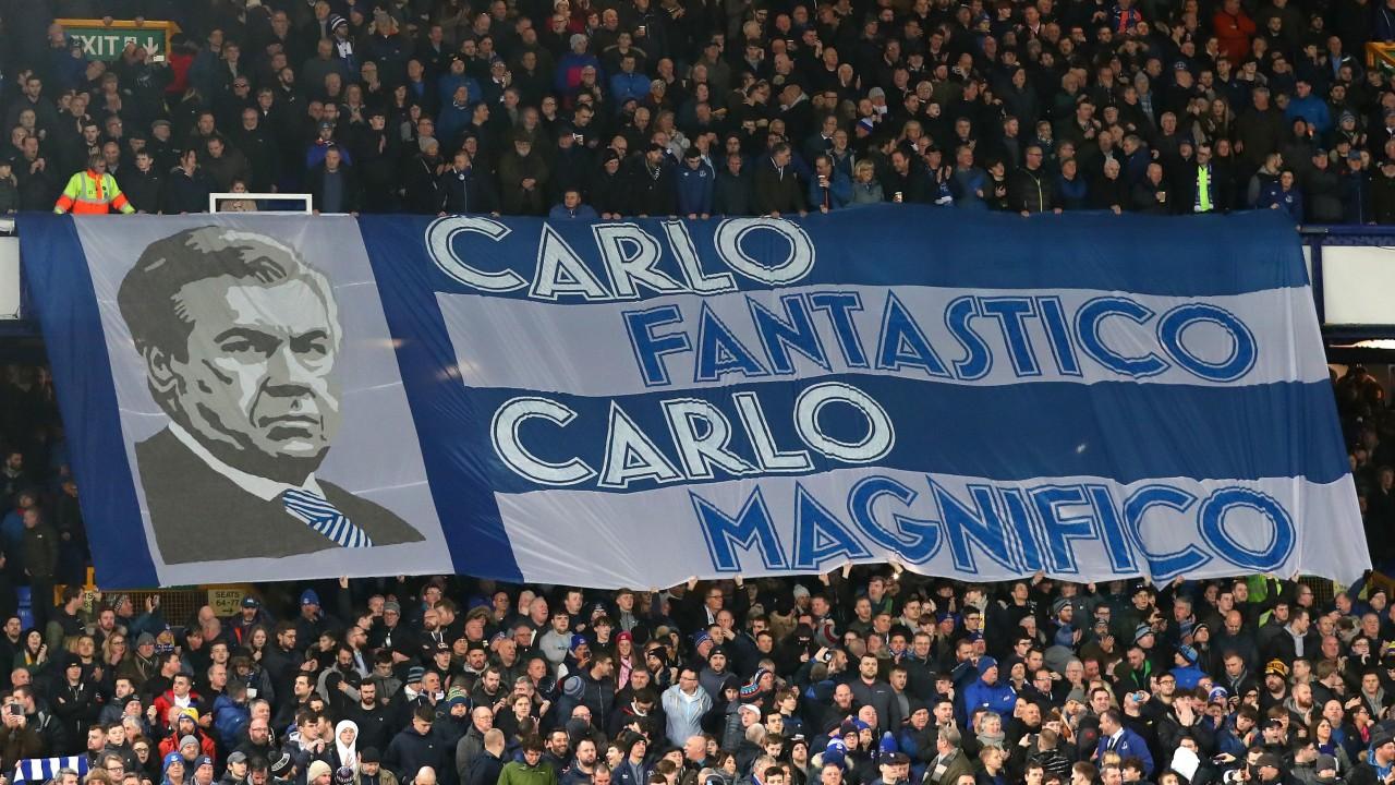 Carlo Ancelotti - Everton Banner
