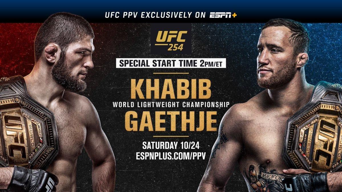UFC 254: Khabib vs Gaethje – Main Card Preview