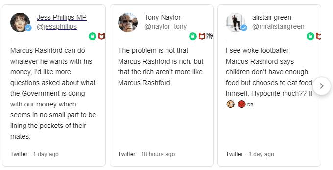 marcus rashford twitter replies daily mail