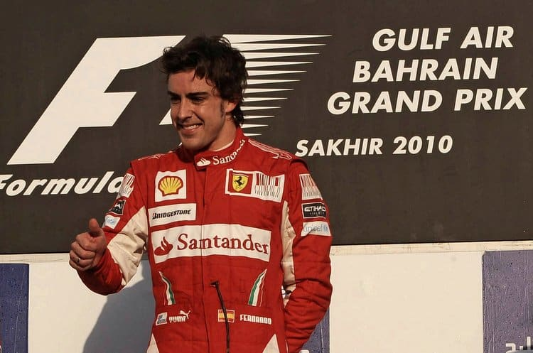 Alonso Won His First Race With Ferrari At Bahrain