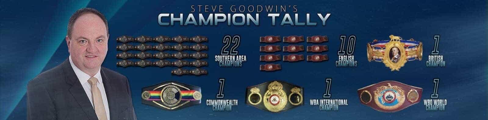 Steve Goodwin Champion Tally