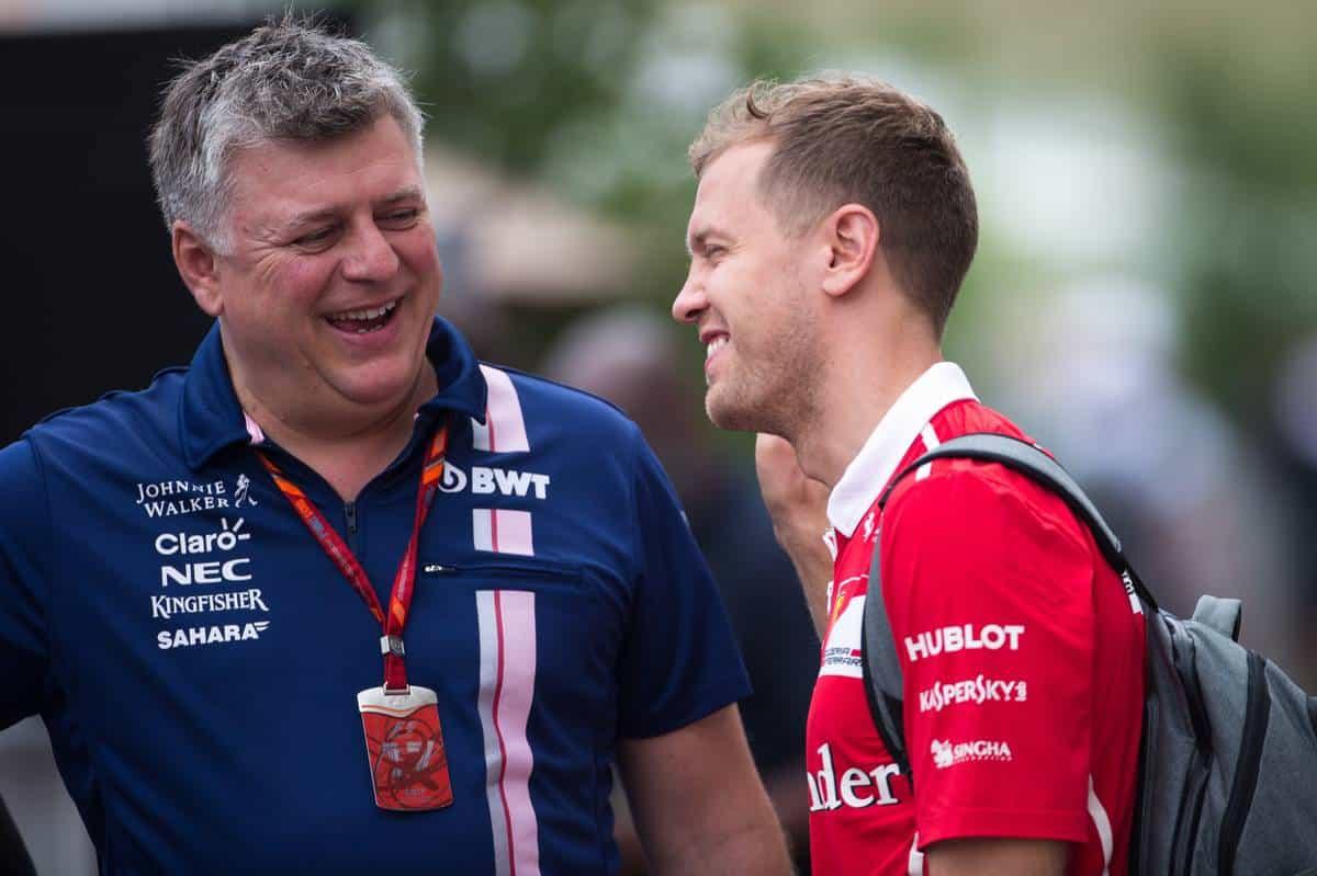 Vettel Aston Martin Perez