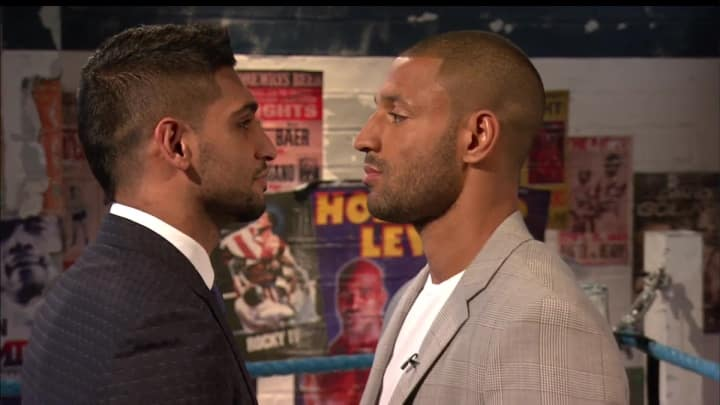 Amir Khan Vs Kell Brook Face To Face.