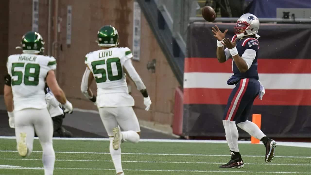 Cam Newton Catches A Touchdown Pass