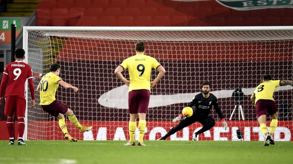 Burnley stun Liverpool at Anfield