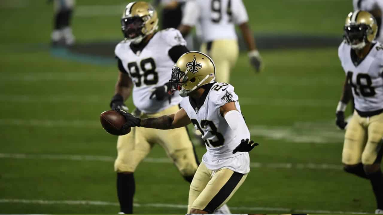 Marshon Lattimore And The Saints D Intercept The Panthers 5 Times