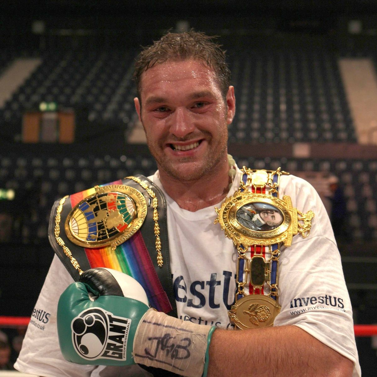 Tyson Fury With Prestigious British And Commonwealth Titles