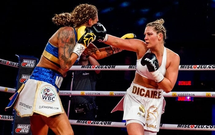 Undefeated Ibf Champion Marie Eve Dicaire Attempts To Become Undisputed. Claressa Shields Vs Marie Eve Dicaire