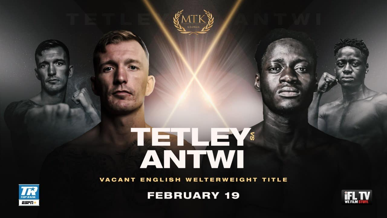 Chief Support To Mccomb Vs Gwynne Tetley Vs Antwi For The English Welterweight Title
