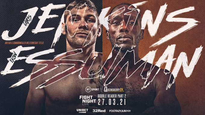 Chris Jenkins Vs Ekow Essuman Will Be Co Main Event On March 27