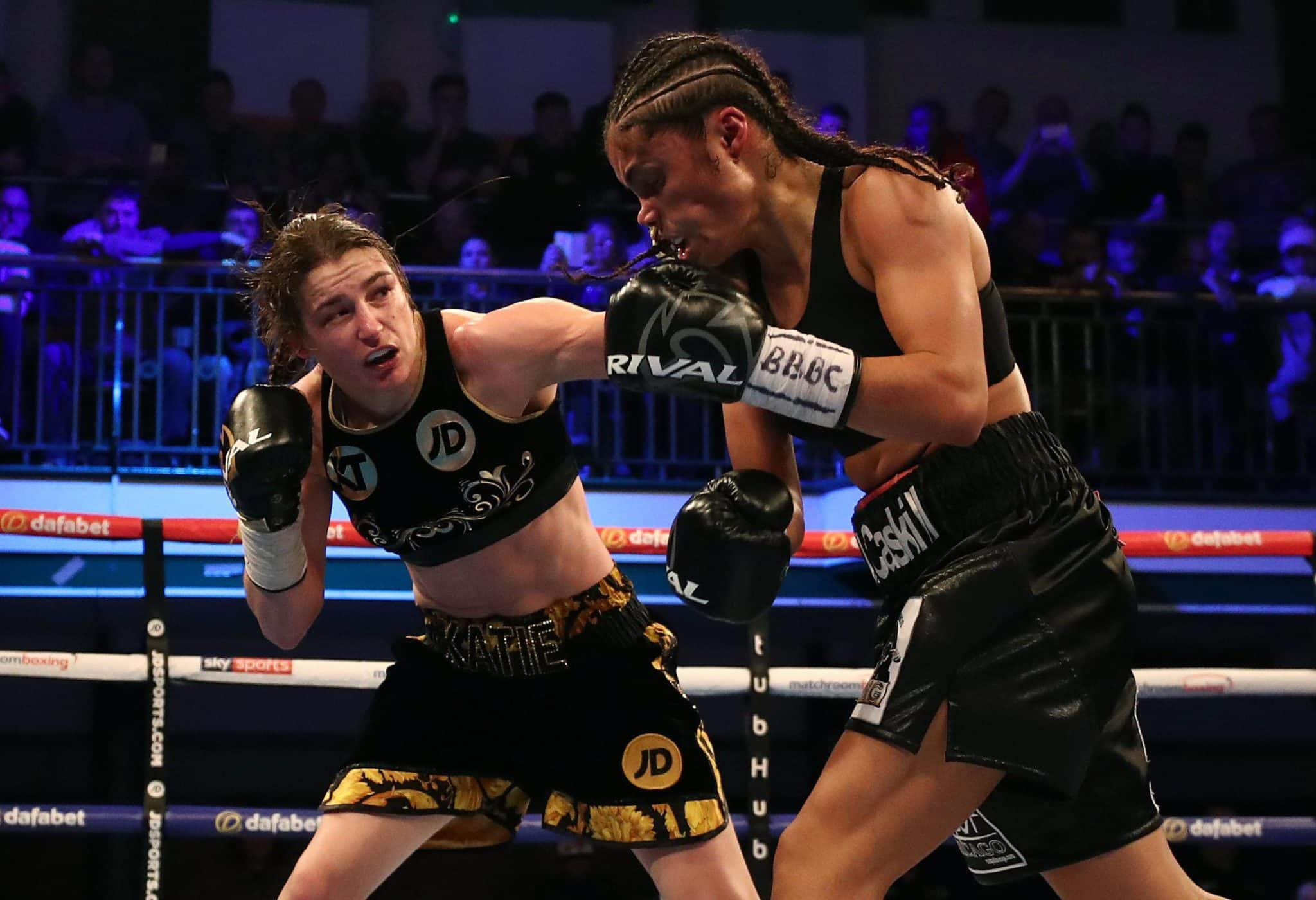Katie Taylor Outpointed Jessica Mccaskill Over 10 Tough Rounds In Their First Encounter